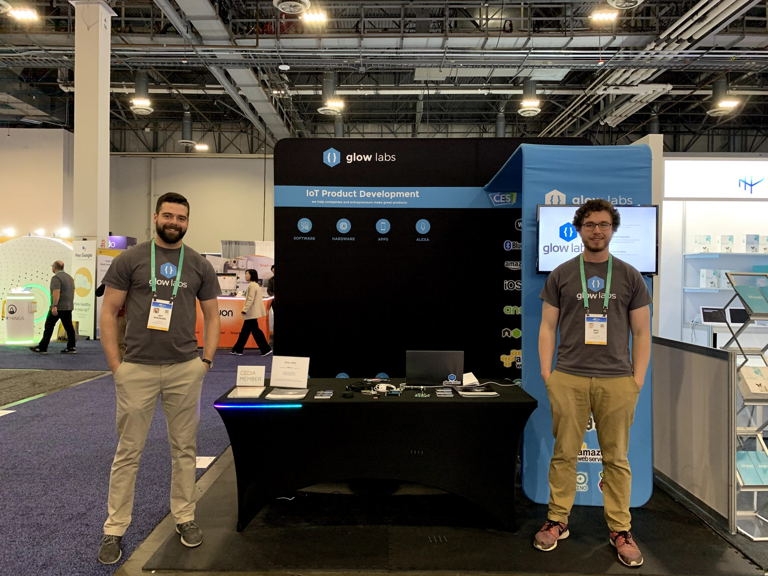 Glow Labs' CES 2020 IoT Product Development Booth